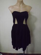 CUTE Black/Fawn Mesh Insert Strapless Dress .. BARDOT .. Size: 8    #F0218  BNWT