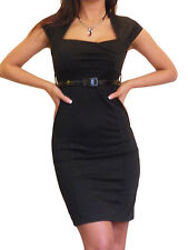 Womens Dress Ladies BodyCon Office Pencil Work Stretch Size 8 10 12 14 16 18