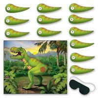 PIN THE TAIL DINOSAUR GAME BIRTHDAY PARTY FUN GAME DECORATION T-REX