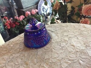 CARNIVAL NORTHWOOD STYLE PURPLE AMETHYST GRAPE & CABLE BUTTER DISH LID ONLY