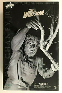 """SIDESHOW UNIVERSAL MONSTERS THE WOLF MAN LON CHANEY JR. SILVER SCREEN 12"""" FIGURE"""