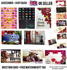 48x Joblot Wholesale A5 Birthday Greeting Cards Blank Christmas Gift Tags