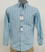 Daniel Cremieux Lightweight Oxford Aqua Striped L/S Men's Shirt NWT $69.50 S M L