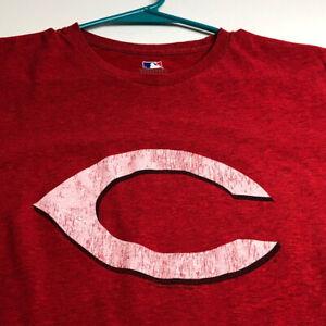 Cincinnati Reds Baseball Women's Short Sleeve T Shirt Medium M Red White Crew