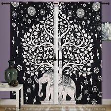 Black & White Mandala Valances Handmade Cotton Curtains Indian Tapestry Decor