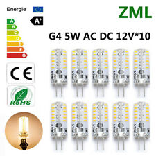 10pcs G4 LED 5W 48*3014SMD Warm White  Light Bulb Halogen 360°Beam AC/DC 12V