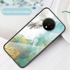 Tempered Glass Back Tpu Protective Phone Case Cover For OnePlus 7T Pro/6T/5T