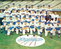 1963 Los Angeles Dodgers Team Photo 8X10 Koufax Drysdale LA World Series Champs