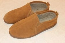 Minnetonka Mens 13M Slippers Golden Tan
