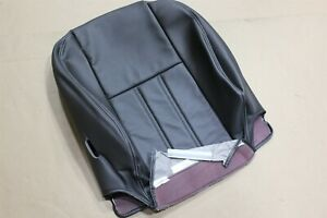 OEM Factory Front Driver-Side Seat Cushion Cover Top Upper Back Black Leather