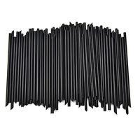 100X Black Plastic Mini Cocktail Straws For Celebration Drinks Party XDRD