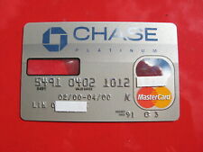 VINTAGE OLD CREDIT CARD: CHASE PLATINUM MASTER CARD with MAGNIFICATION STRIP