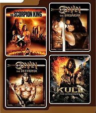 NEW DVD - CONAN THE BARBARIAN + DESTROYER + KULL + THE SCORPION KING - 4 MOVIES!
