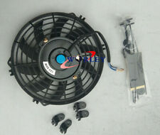 "10"" inch 12V PULL/PUSH SLIM RADIATOR ELECTRIC COOLING THERMO FAN+MOUNTING KITS"