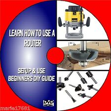 HOW TO USE A ROUTER EASY TO FOLLOW BEGINNERS TUTORIAL WOODWORK ROUTING VIDEO DVD