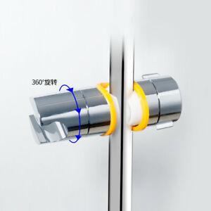 Adjustable Clamp Bracket Chrome Plated Shower Rail Head Slider Holder 19-25mm