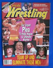 1990 INSIDE WRESTLING Magazine Jul VG+ Rick Rude Curt Hennig Earthquake
