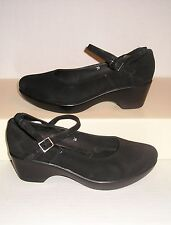 CORDANI Calzature Women's Black Suede Leather Mary Jane Dress Loafers 38 / 7 US