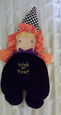 Baby Trick or Treat Halloween plush doll kids gifts  washable 12 inches witch