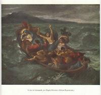 Publicité ancienne le lac de Génésareth  E Delacroix issue de magazine