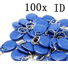 100pcs RFID Proximity ID Token Tag Key Ring a Part of Wiegand26 Access control