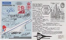 Superb CONCORDE FDC MULTI signed Chief Pilots x 4  inc Lord Heseltine