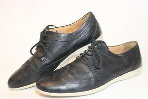 John Fluevog Mens Size 11 Leather Lace Up Brogue Wingtip Sneaker Oxford Shoes