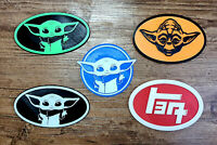 Baby Yoda Toyota car badge TEQ JDM custom made the child