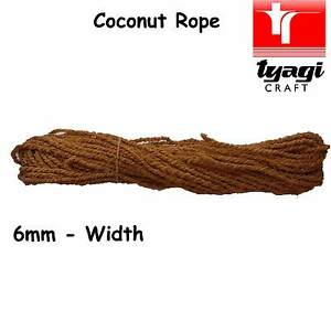 Coconut Rope Cord 6mm Rustic Natural Pure Twine Garden upcycle Sabby Chic