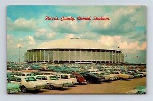 Postcard TX Houston Texas Harris County Domed Stadium AB19