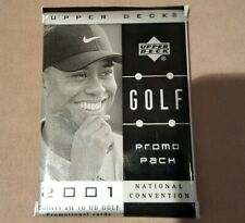 2001 UPPER DECK NATIONAL CONVENTION PROMO HEROES SET TIGER WOODS ROOKIE BGS 10 ?