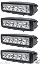4x 18W LED Flood Beam Work Light Lamp Car Tractor SUV Truck Boat 4WD 12V 24V