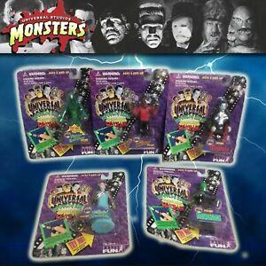 "Universal Studios Monsters 4"" Figure Flashlight Keychains set of 5 1995 Dracula"