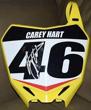 Carey Hart #46 Signed Suzuki Front Number Plate  - JSA COA - Supercross
