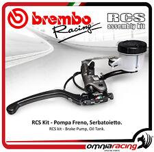 Brembo RCS 19 Adjustable Brake Master Cylinder + Bracket and Reservoir Kit