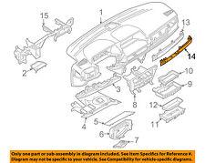 BMW OEM 05-08 760Li Instrument Panel Dash-Molding Strip 51457142114