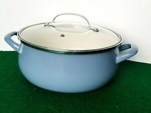 VITREX GOURMET Blue CACEROLA 24 DUTCH OVEN 5 Qt Ceramic Enamel Pot Pan Lid