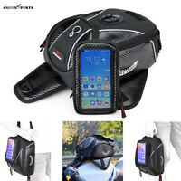 Motorcycle Motorbike Tank Bag With Phone Holder Magnetic Oil Fuel Bag Luggage
