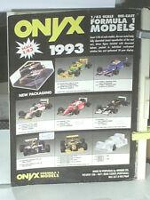 GAMME MINIATURES ONYX 1993 FORMULE 1  (archives professionnelles)