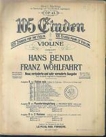 Hand Benda & Franz Wohlfahrt : 105 Etüden für Violine Heft 3