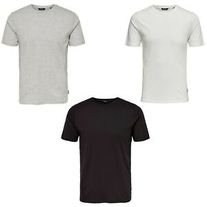 Only & Sons Mens Plain TShirts Crew Neck Short Sleeve Summer Tee Tops