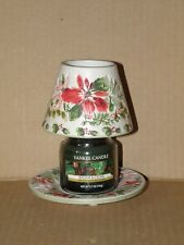 YANKEE CANDLE POINTSETTIA SMALL JAR SHADE & PLATE NWTS