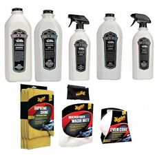 NEW Meguiars Line Mirror Bright Detailing Kit, Shampoo, Leather Cleaner & Towels