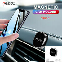 Silver Mini Strip Shape Magnetic Car Phone Holder Stand For iPhone Magnet Mount