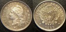 Argentine - République - 10 centavos argent 1883 SUP ! KM#26
