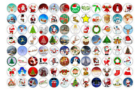 96 x CHRISTMAS PREMIUM MIXED 3cm EDIBLE Rice Paper Cake Toppers FREE P&P XMAS D5