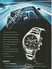 SEIKO Sportura Chronograph 100M watch - 2002 Print Ad