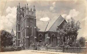 H70/ St Joseph Ohio RPPC Postcard c1930s Lourdes Grotto Church Akron 141
