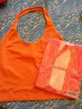 Victoria Secret TWO Halter Tops, Coral And Pink Size M