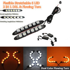 2Pcs 6 LED Sequential Car DRL Daytime Running Driving Lamp & Turn Signal Light